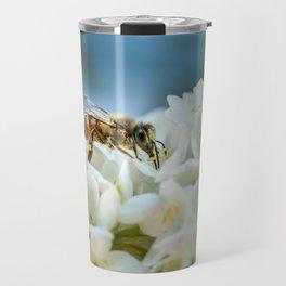 Bee In Garden Travel Mug