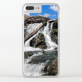 Lake MacBride State Park Waterfall Clear iPhone Case