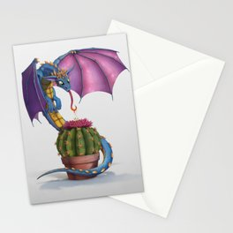 Cactus-flower Dragon Stationery Cards