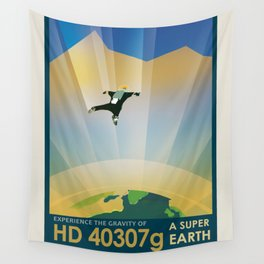 NASA Visions of the Future - Experience the Gravity of HD 40307g Wall Tapestry
