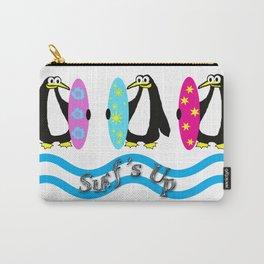 Surfer Penguins Carry-All Pouch