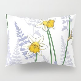 Delicate flowers Daffodils Pillow Sham