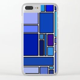 50 shades of blue Clear iPhone Case