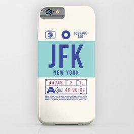Baggage Tag B - JFK New York John F. Kennedy USA iPhone Case