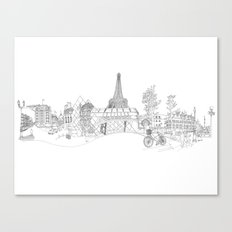 Paris! Version#1 Canvas Print