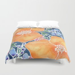 Masked Flora Collection Poppies Duvet Cover