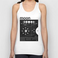geek Tank Tops featuring Phases of the Moon infographic by Nick Wiinikka