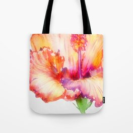 Bright Hibiscus Floral Water color Tote Bag