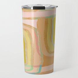 Shapes and Layers no.28 - Modern Squares and Stripes Travel Mug