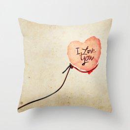 Love heart Message Throw Pillow