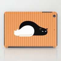 freud iPad Cases featuring Black Cat, White Cat by Gabor Edes