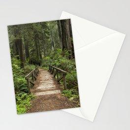 Walk Through Prairie Creek Redwoods State Park Stationery Cards