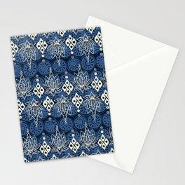 lotus diamond indigo Stationery Cards