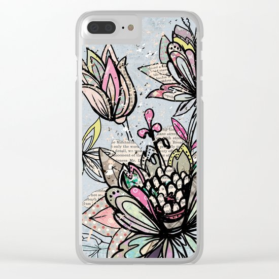 Paper Flowers #4 Clear iPhone Case