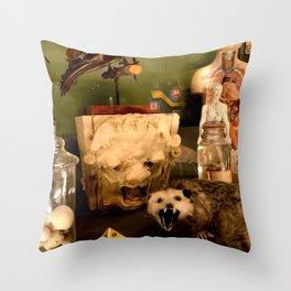Curious Beasts Throw Pillow