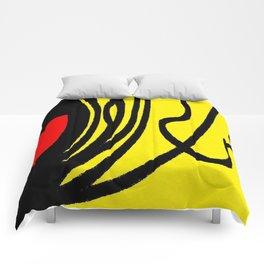 red yellow black Comforters