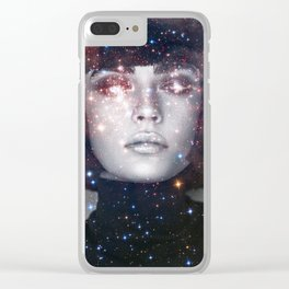 Shes a witch girl Clear iPhone Case