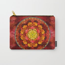 Star Mandala Flame Carry-All Pouch