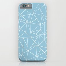 Abstraction Outline Sky Blue Slim Case iPhone 6