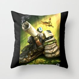 over bastion Throw Pillow