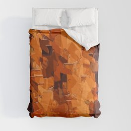 brown and dark brown painting abstract background Comforters