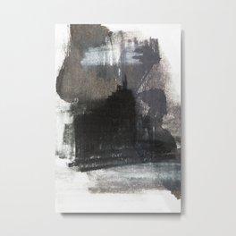 Abstract Texture, Black White & Grey Texture 1 Metal Print
