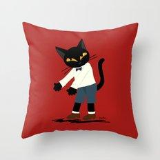 Go ahead please Throw Pillow