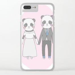 Wedding pandas, Clear iPhone Case