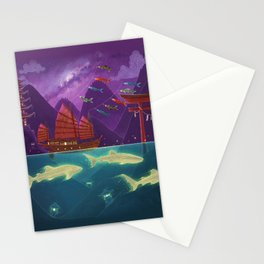 Junk Ship and Glow Sharks Stationery Cards