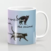 marx Mugs featuring Black cat crossing by IvaW