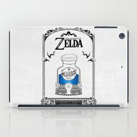 legend of zelda iPad Cases featuring Zelda legend - Blue potion  by Art & Be