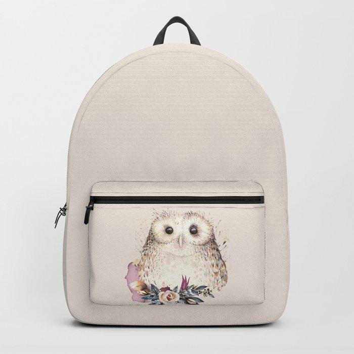 Boho Illustration- Be Wise Little Owl Backpack