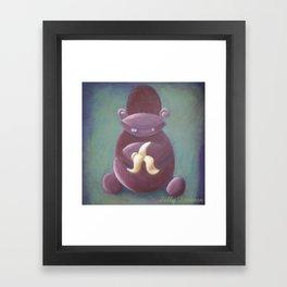 Miles the Monkey Framed Art Print