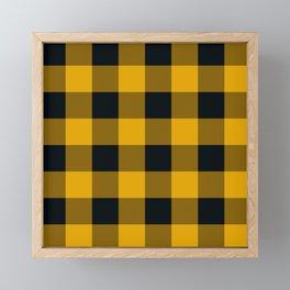 Yellow & Black Buffalo Plaid Framed Mini Art Print
