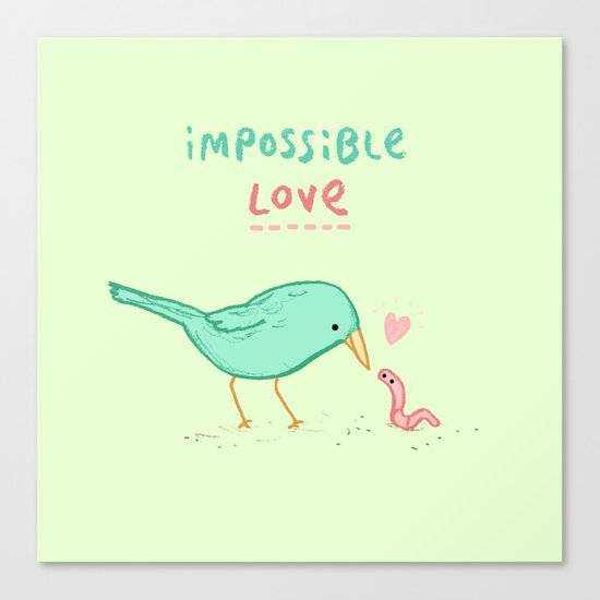 Impossible Love Canvas Print