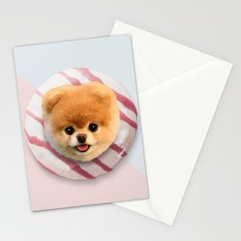 Pomerania Donut Stationery Cards