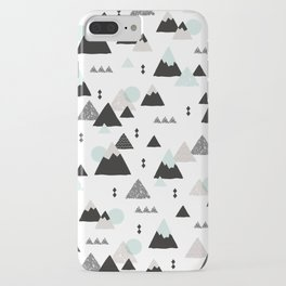 Geometric Fuji mountain japan travel pattern iPhone Case