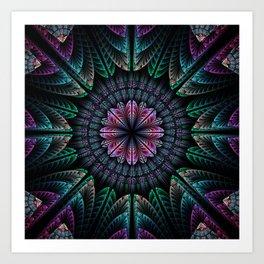 Magical dream flower, fractal abstract Art Print