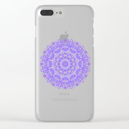 Mandala 12 / 1 eden spirit purple lilac white Clear iPhone Case