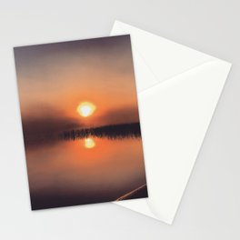 Misty sunrise Stationery Cards