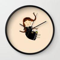 libra Wall Clocks featuring Libra by Kristina Sabaite