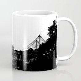 Thames skyline in black and white, London, UK Coffee Mug