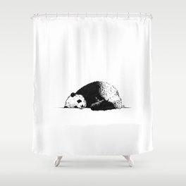 Sleepy Panda Shower Curtain