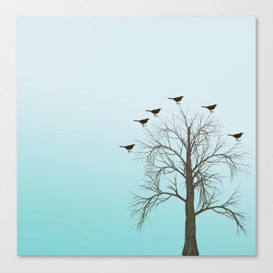 Tree with Birds Canvas Print