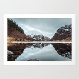 Reflected Mountain Art Print