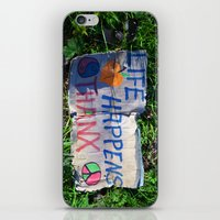 philosophy iPhone & iPod Skins featuring Discarded Philosophy  by Gary Lee Hutchings