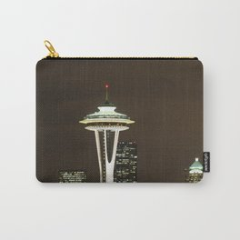 Seattle Space Needle at Night - City Lights Carry-All Pouch