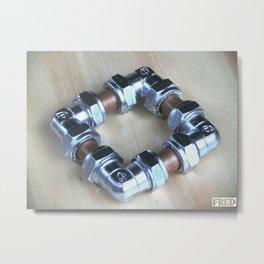 Copper and Chrome Smart Art - FredPereiraStudios.com_Page_02 Metal Print