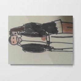 New Goth Boy and goth girl Metal Print