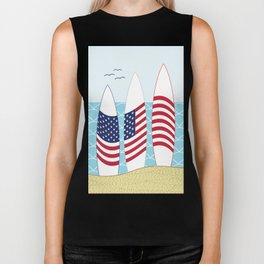 Surfing USA Biker Tank